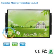 TFT cor 26 polegada monitor LCD open frame embutida montagem HDMI com caixa de metal industrial grau