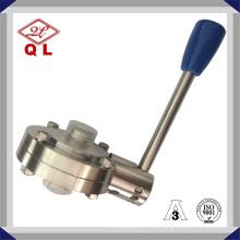 Нержавеющая сталь 304 316L Sanitary Tri Clamp Клапан-бабочка с ручным управлением