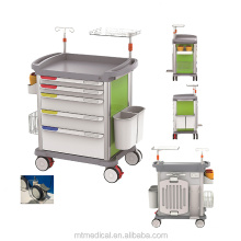 Hospital ABS Medical Lock Crash Anaesthesia Cart Emergency Trolley