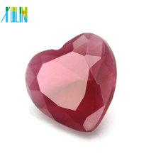 2018 Trendy Schmuck AB Farbe Glas Kristall großes Herz Anhänger in der Masse CP136