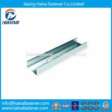 China proveedor Alta Resistencia Mejor Precio Típico Metal Enmarcar Canal / Steel Guideway