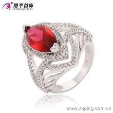 New Arrival Elegent Heart-Shaped Rhdium CZ Gemstone Jewelry Finger Ring -13650