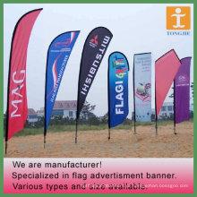 Bandeira de praia colorida