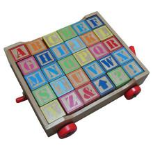 Hölzernes Alphabet Lernspielzeug cart pädagogisches Spielzeug