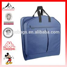 Dois bolsos com zíper Terno Bag Dobrável Terno Garment Bag
