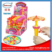 Faviate Plastic Flash Toy Mini Carousel Toy with Candy