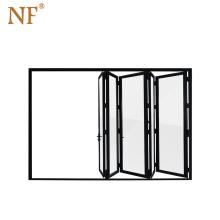 Best Selling Aluminium double glass Bi-Folding Metal Door