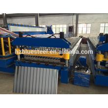 Высококачественная оцинкованная стальная гофрированная листовая рулонная машина, машина для производства волнистой панели