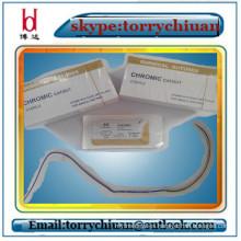 Catgut crómico absorbible, paquete de sutura estéril, adhesivo médico y propiedades del material de sutura