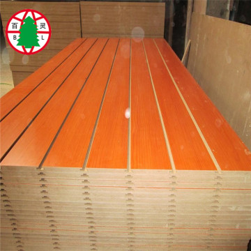 17 MM slot mdf board melamine mdf
