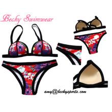 Lady′s Swimwear Two Piece Swimsuit Beachwear with Mould Cup