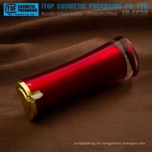 YB-XC30 30ml color pintado interior personalizable delicado y perfecto 1oz loción bomba rubí botella de acrílico