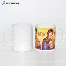 Grade A good qualtiy 11oz white blank sublimation coated mug with printing logo