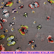 Polyester Printed Chiffon Fabric for Ladies Dress