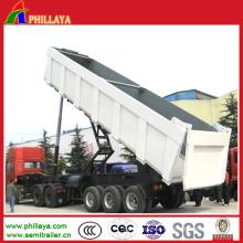 Caminhão basculante da maquinaria de construção 3axles / reboque da descarga semi com despejo