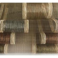 China Hersteller Chenille Striped mit Sheer Voile Organza Vorhangstoffe für die Polsterung