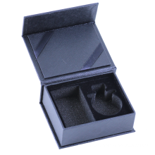 Custom Logo Black Cosmetics Perfume gift box foam insert Rigid Paper Cardboard Flap Lid Magnet Gift Box