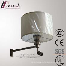 Lámpara de pared decorativa de latón pulido decorativa del hotel europeo