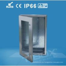 Caja de acero inoxidable de la puerta del plexiglás