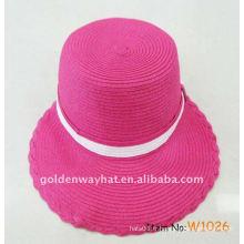 Chapeaux de lunette de soleil pour dames roses