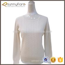 Los mejores suéteres blancos de cachemira puros para las mujeres