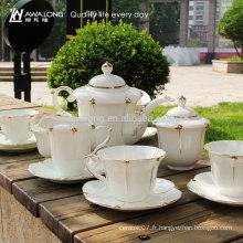 Boîte cadeau de luxe Design Packaging 15pcs Ceramic Bone China Coffee Tea Sets