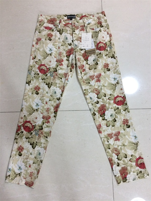Woman High Waist colorful Print Pants