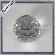 Bola de vidro de presente de Natal branco brilhar