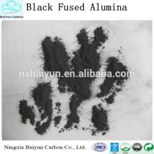 Melhor preço de óxido de alumínio / preço de fábrica corindo preto