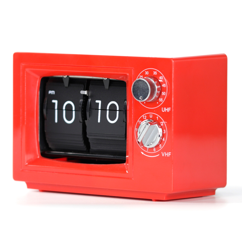 Small Flip Clock Red