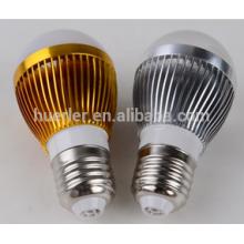 shenzhen led bulbs 3leds 3W aluminum 2 years warranty e26/b22/e27 led light bulb