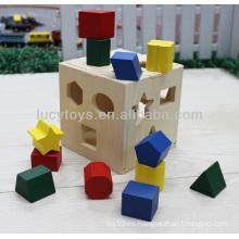 Caja de madera del clasificador de la forma juguetes educativos de los cabritos