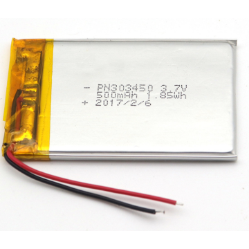 Appareil-photo de double voiture de batterie de 3.7v 500mAh LiPo (LP2X3T6)