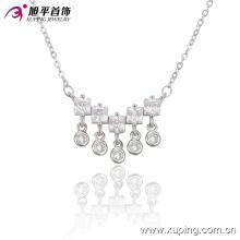 Moda elegante CZ Crystal Rhodium Colgante de joyería de imitación de color collar -42920