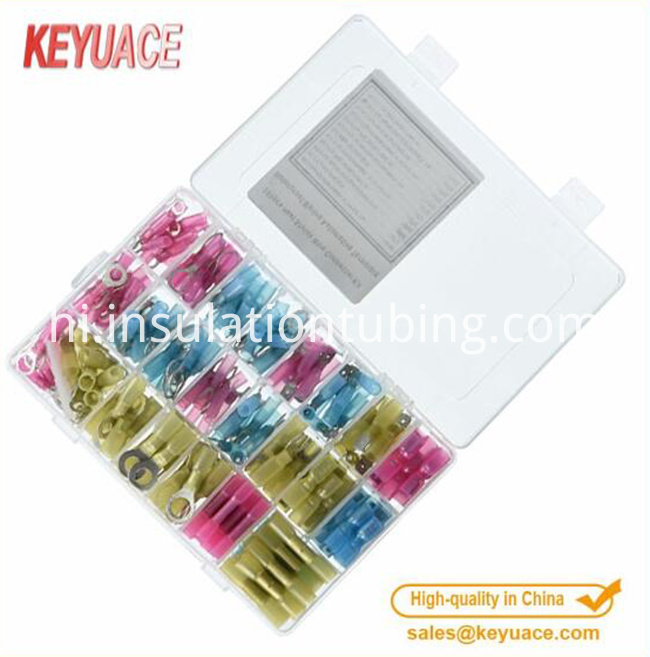 250PCS Insulated Heat Shrink Wire Connectors