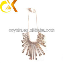 2013 fashion style stainless steel necklace with rose gold plating