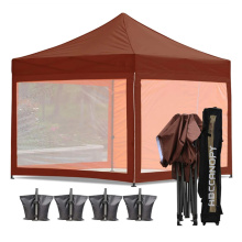Gazebo escamotable transparent de tente de maille d'écran de camping