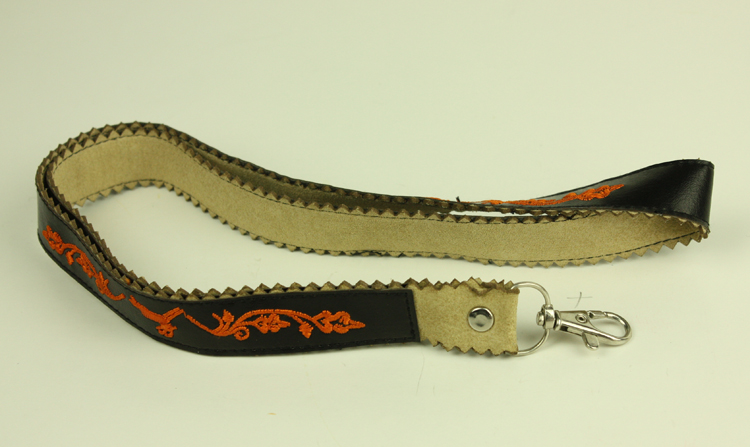 PU leather lanyard