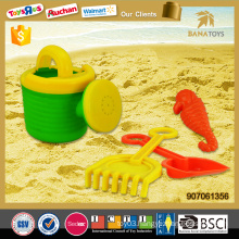 Outdoor watering can with shovel and mold beach toy set
