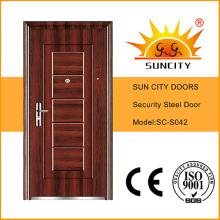 Diseño económico Puertas de acero de seguridad exteriores individuales (SC-S042)