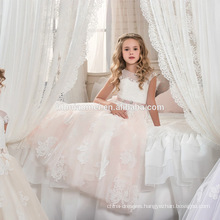 2017 Latest Wholesale little girl tulle embroidered maxi organza party frocks A Line baby girl party dress for birthday