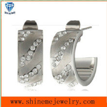 Mini CZ Configuración Piedra CNC Pendientes Studs Joyas