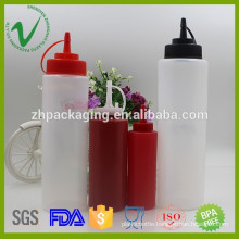 Different volume cylinder empty soft squeeze plastic packaging bottle for sauces