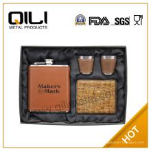 Frasco de la cadera de FDA de 7 oz whisky personalizados regalos para hombres