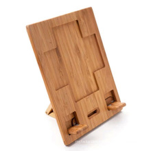 Bamboo Adjustable Holder for iPad or Tablet PC