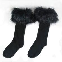 Women′s Cotton Stocking Socks with Fur (WA054)