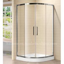 Современная стеклянная душевая комната из нержавеющей стали с лотком (LTS-030)