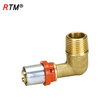 A 17 4 13 brass elbow pipe fittings brass multilayer pipe press fitting