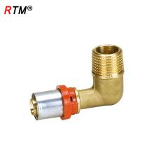 Um 17 4 13 latão cotovelo acessórios para tubos de latão tubo de multicamadas imprensa montagem