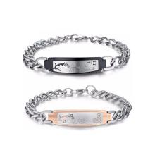 A Set of Hook Lady Ornament Wrist Band Bracelet for couples